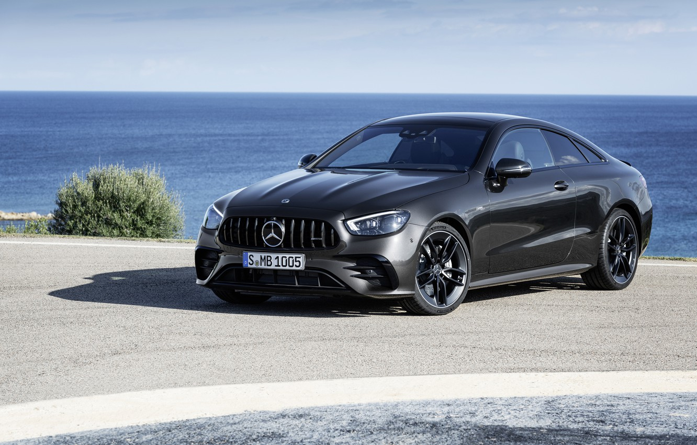 Photo wallpaper black, coupe, Mercedes-Benz, Coupe, 4MATIC, 2020, Worldwide, E 53