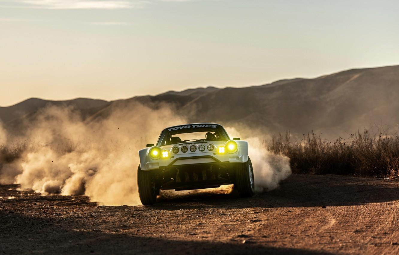 Photo wallpaper light, movement, dust, 911, Porsche, 964, primer, 2019, 911 Baja Prototype, Russell Built Fabrication