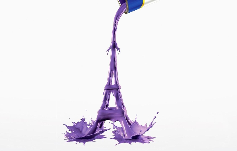 Photo wallpaper Purple, Color, Wallpaper, Paint