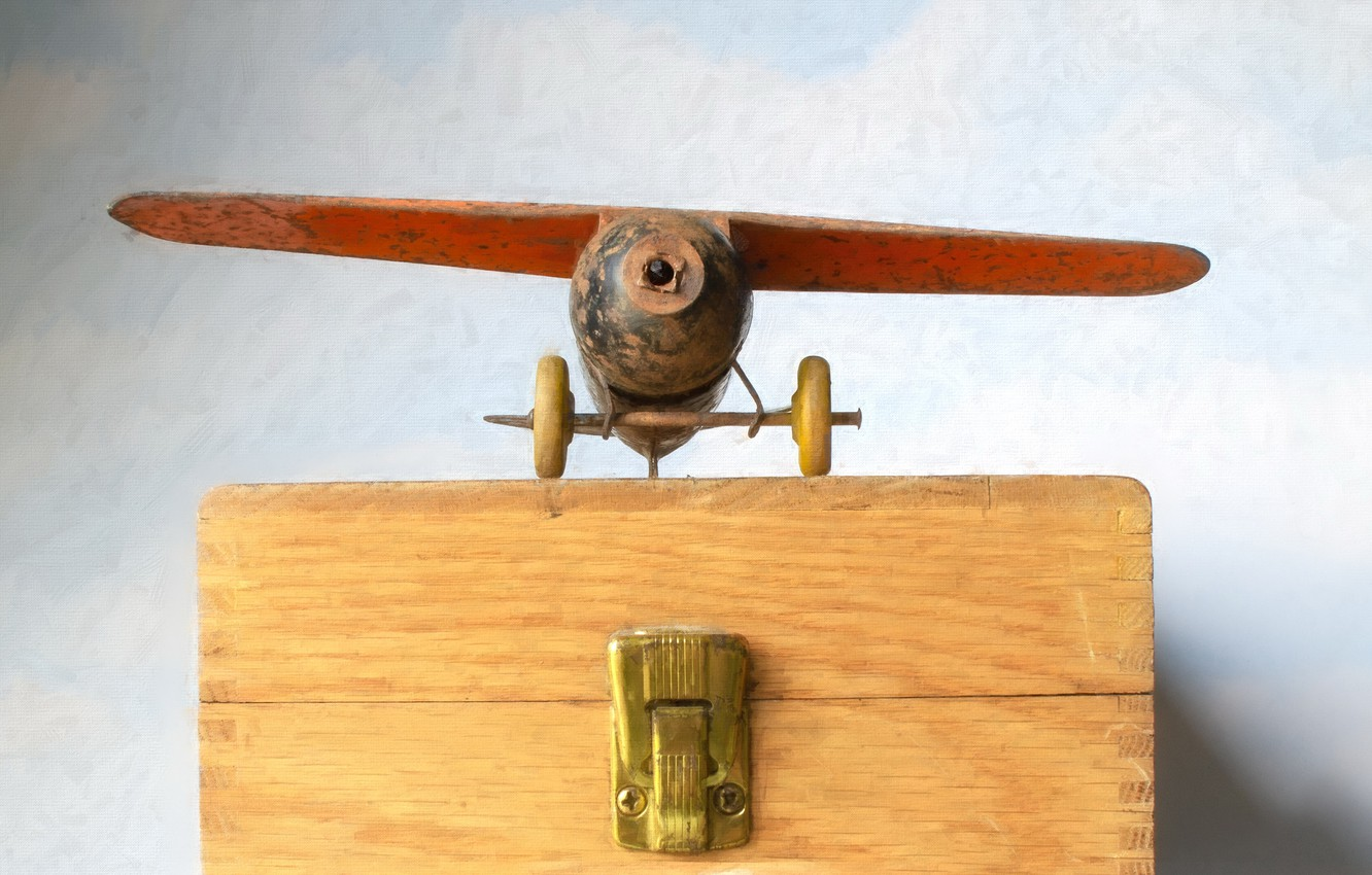 Photo wallpaper background, toy, the plane