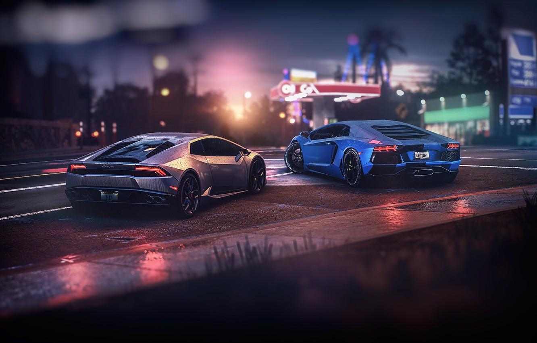 Photo wallpaper Lamborghini, Machine, NFS, Need for Speed, Supercar, Aventador, Lamborghini Aventador, Sports car, Huracan, Lamborghini Huracan, …