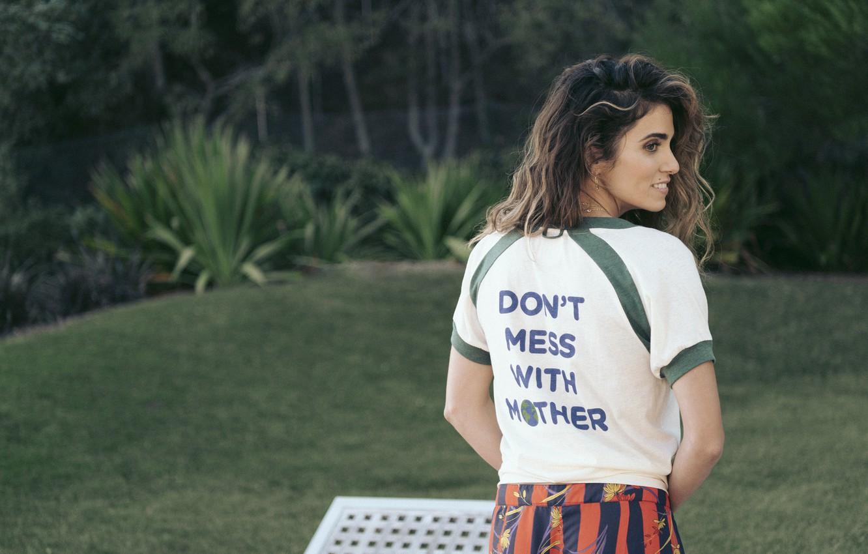 Photo wallpaper back, actress, t-shirt, Nikki Reed