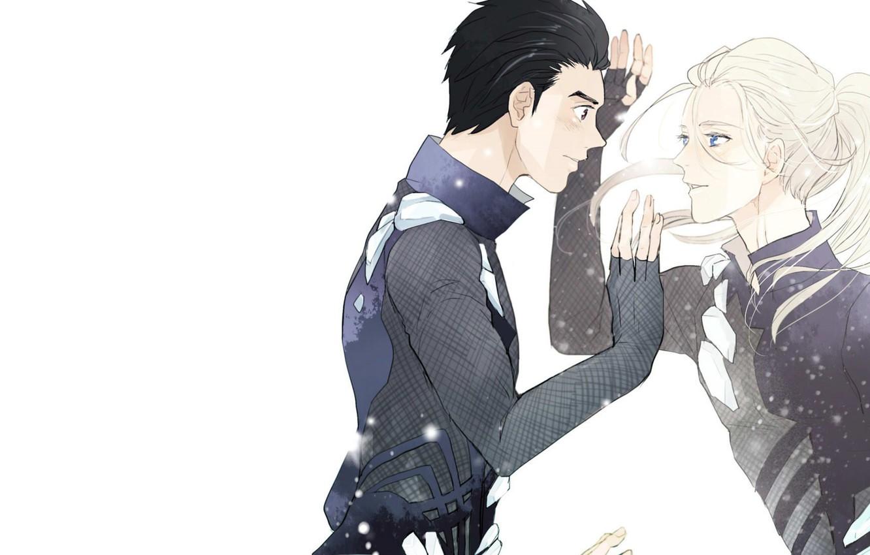 Photo wallpaper anime, art, guys, Yuri on Ice, Yuri on the ice, Viktor Nikiforov, Yuri katsuki