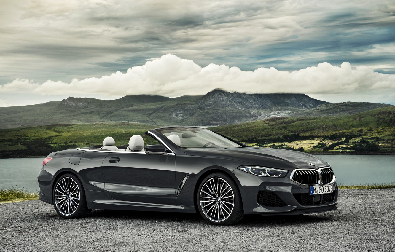 Photo wallpaper clouds, BMW, Parking, convertible, xDrive, G14, 8-series, 2019, Eight, M850i Convertible