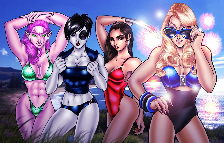 Photo wallpaper sexy, girls, comics