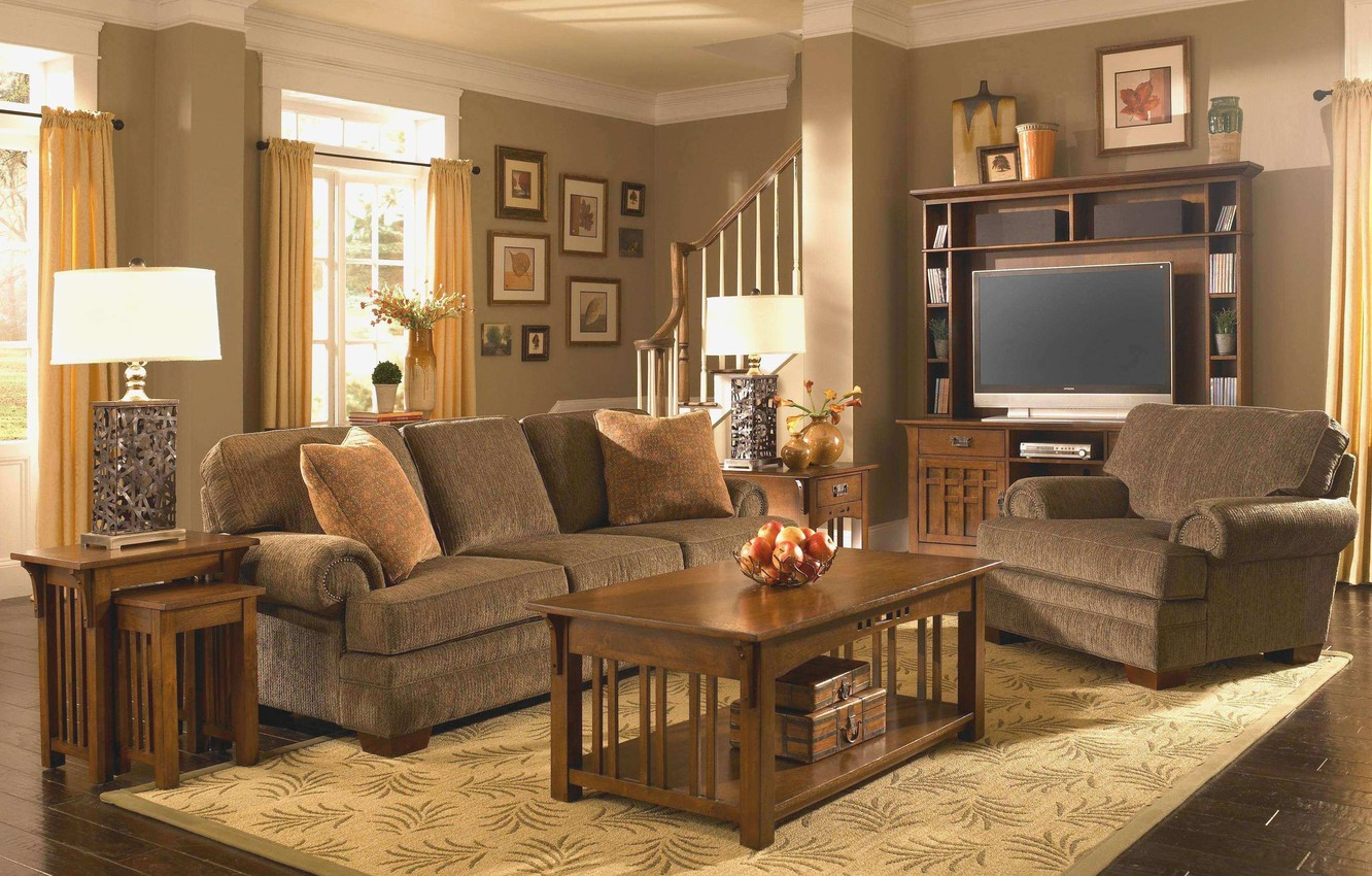 Mission Style Living Room Interior
