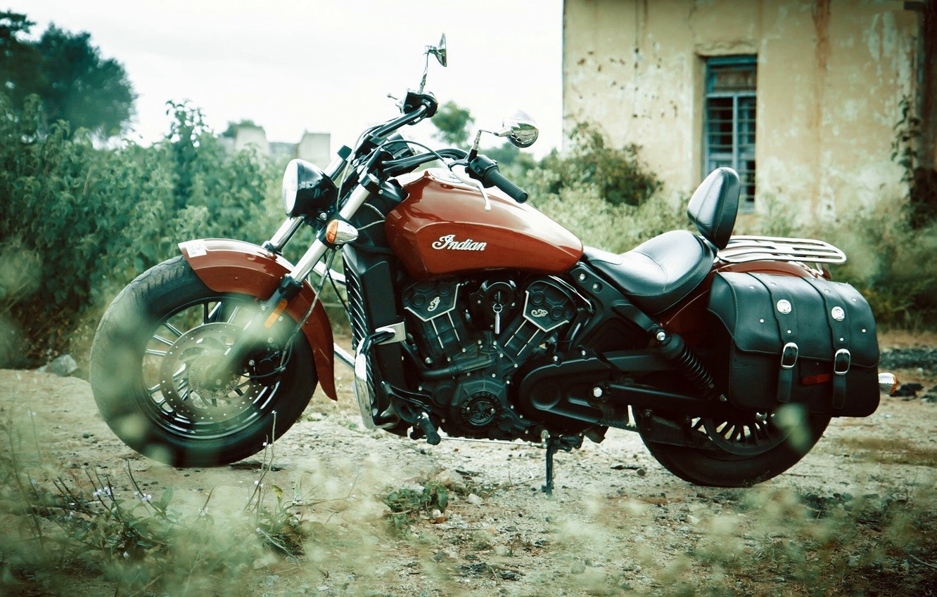 Photo wallpaper Indian, Scout, Motorcycle