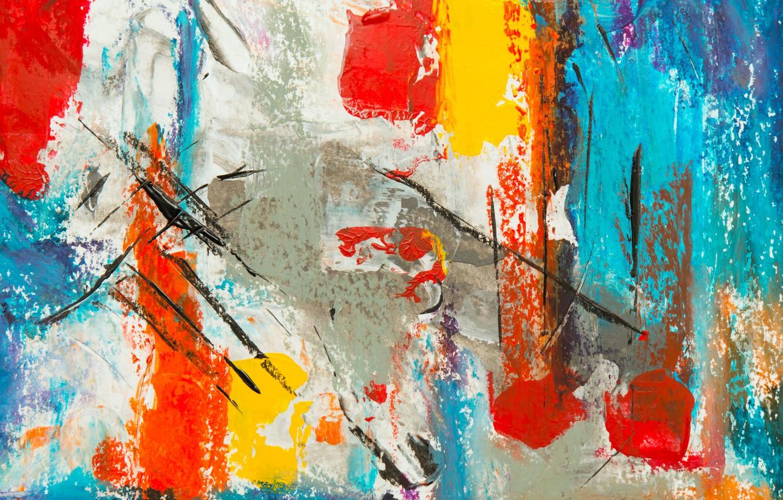Photo wallpaper line, paint, strokes, spot, canvas, strokes