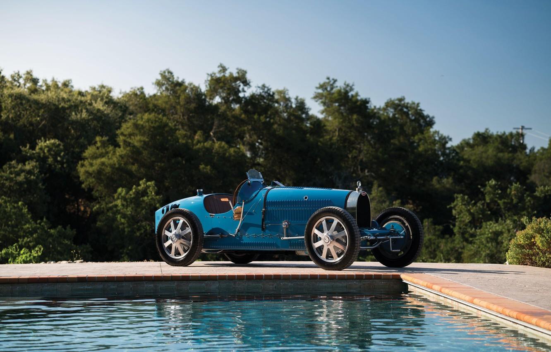 Photo wallpaper Pool, Blue, Vintage, Retro, 1927, Bugatti Type 35C