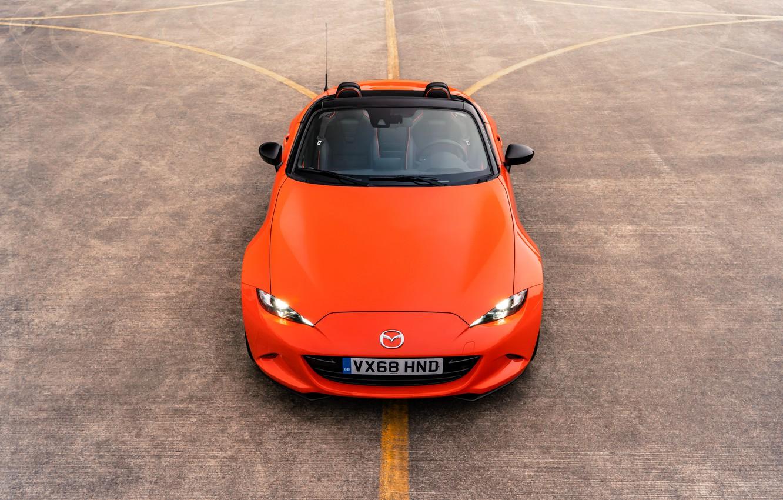 Photo wallpaper orange, the hood, top, Mazda, Roadster, MX-5, 30th Anniversary Edition, 2019