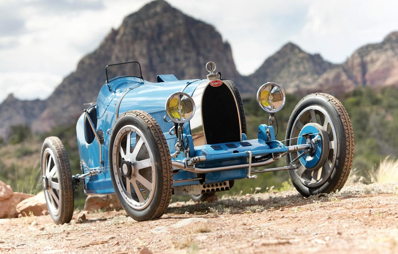 Photo wallpaper Bugatti, Lights, Classic, Chrome, Classic car, 1924, Grille, Type 35, Bugatti Type 35 Prototype