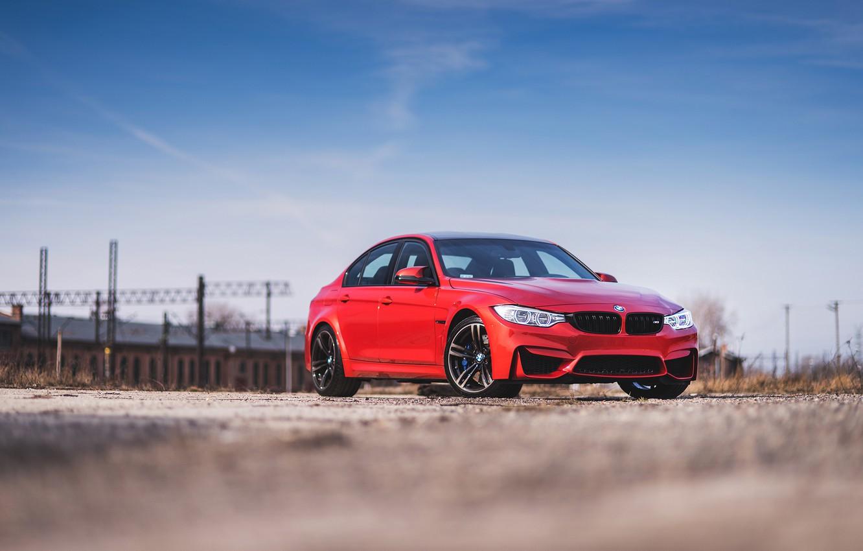 Photo wallpaper BMW, RED, f80