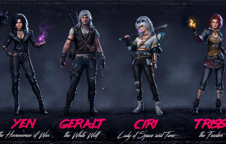 Photo wallpaper Ian, Triss Merigold, Geralt of Rivia, Triss Merigold, White Wolf, The Witcher 3 Wild Hunt, …