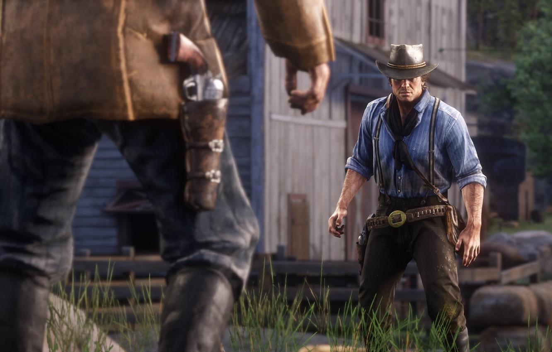Wallpaper hat, duel, weapons, Rockstar, Bandit, Red Dead Redemption