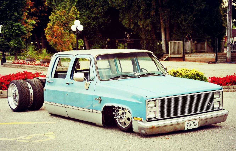 Photo wallpaper Chevrolet, Silverado, Custom car