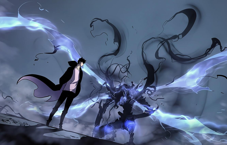 Photo wallpaper the demon, guy, Sung Jin-Woo, Solo Leveling, Beru, Raising the level alone