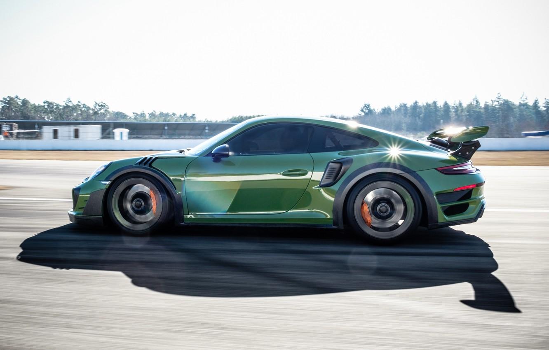 Photo wallpaper speed, 911, Porsche, side view, Turbo S, TechArt, 2019, GT Street RS