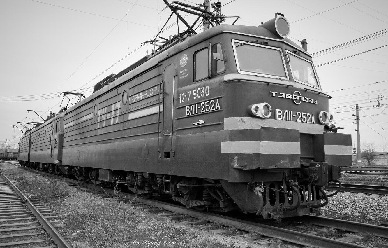 Photo wallpaper Railroad, VL11, Electric