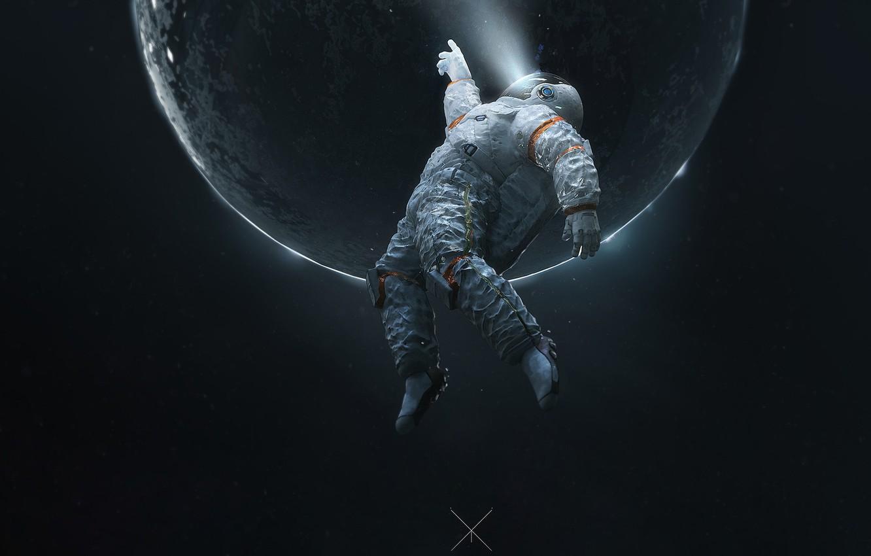 Photo wallpaper The suit, Planet, Space, Astronaut, Astronaut, Fiction, Space, Space Journey, by Ramazan Kazaliev, Ramazan Kazaliev