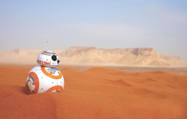 Wallpaper Sand Desert Robot Star Wars Android Bb 8 Images For Desktop Section Filmy Download