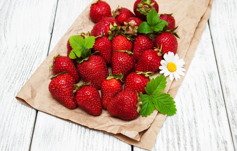 Photo wallpaper berries, strawberry, red, fresh, strawberry, berries