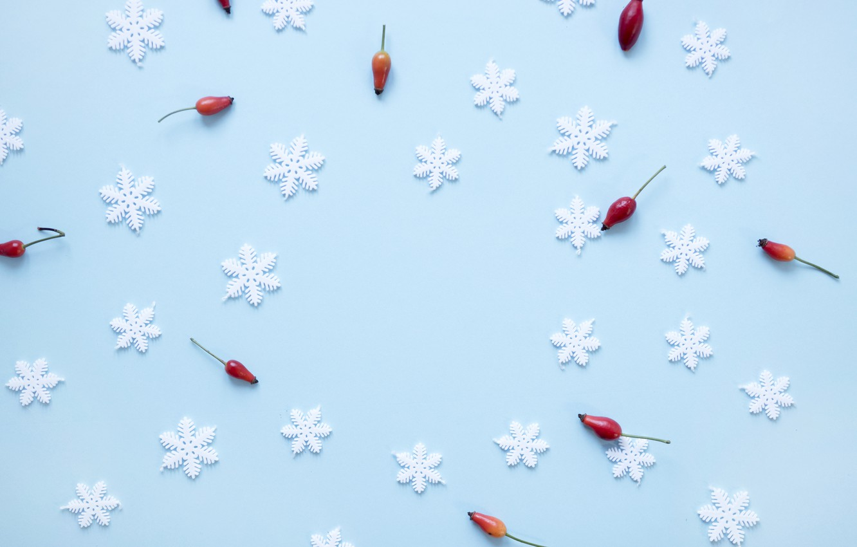 Photo wallpaper winter, snowflakes, background, blue, Christmas, blue, winter, background, snowflakes