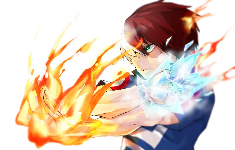 Wallpaper Anime Fire Art Boku No Hero Academy My Hero