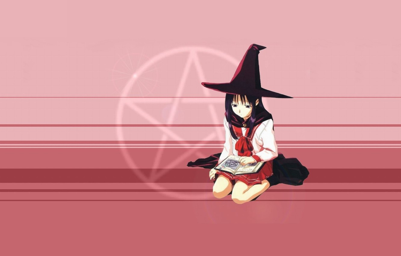 Photo wallpaper witch, spell, witchcraft, pentagram, witch, witch hat, black magic, damage