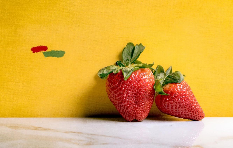 Photo wallpaper berries, background, strawberry