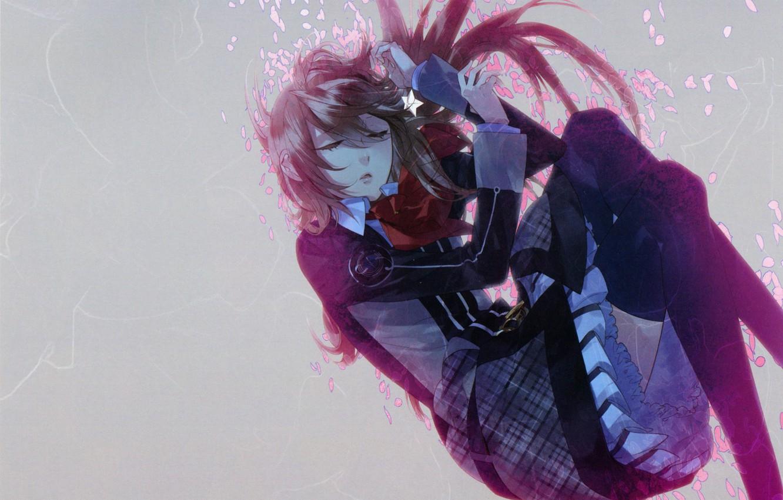 Photo wallpaper girl, petals, Starry Sky, Starry★Sky, visual novel, anime (2011)