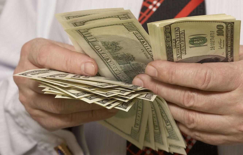 Photo wallpaper money, dollar, banknotes