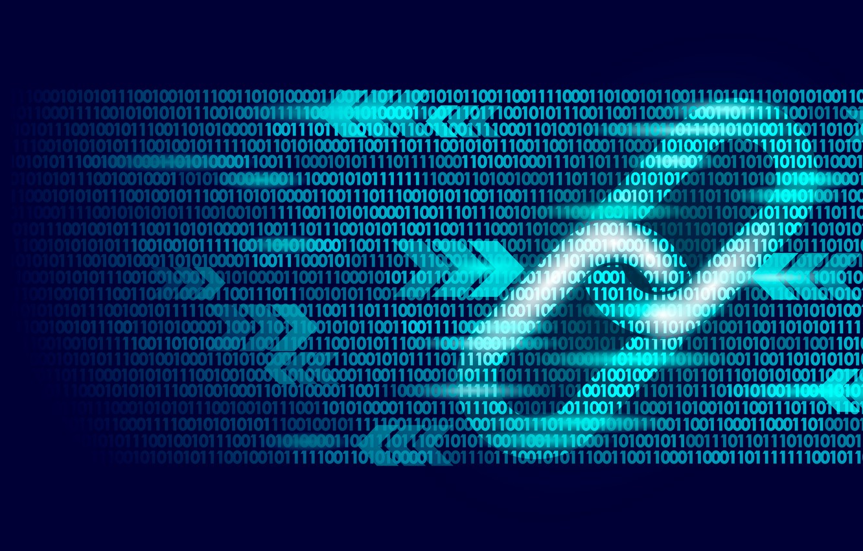 Photo wallpaper the inscription, chain, blue, fon, chain, blockchain, blockchain