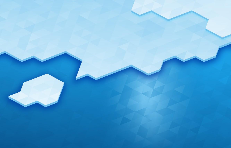 Photo wallpaper Blue, Line, Blue, Linux, Ice, Abstraction, KDE, Bright Wallpaper, Высокое качество, KDE Plasma