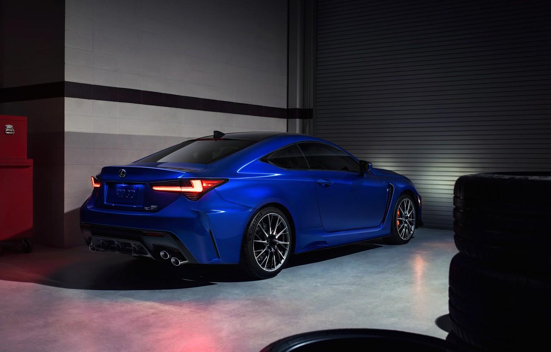 Photo wallpaper Lexus, rear view, RC F, 2019