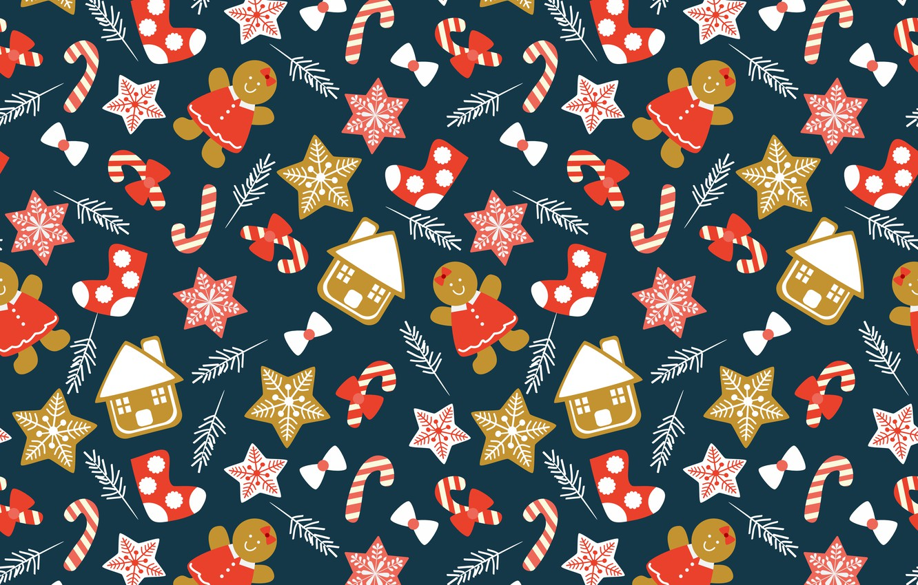 Photo wallpaper decoration, background, New Year, Christmas, Christmas, winter, background, pattern, New Year, decoration, xmas, Merry, seamless