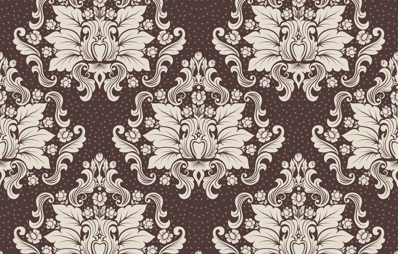 Photo wallpaper design, retro, Wallpaper, pattern, ornament, luxury, vintage, floral, brown background