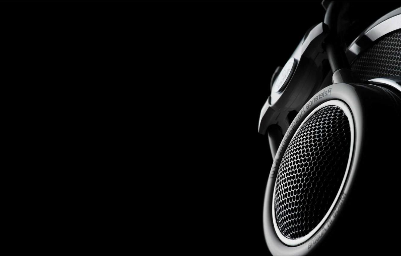Photo wallpaper background, black, Minimalism, technique, headphones