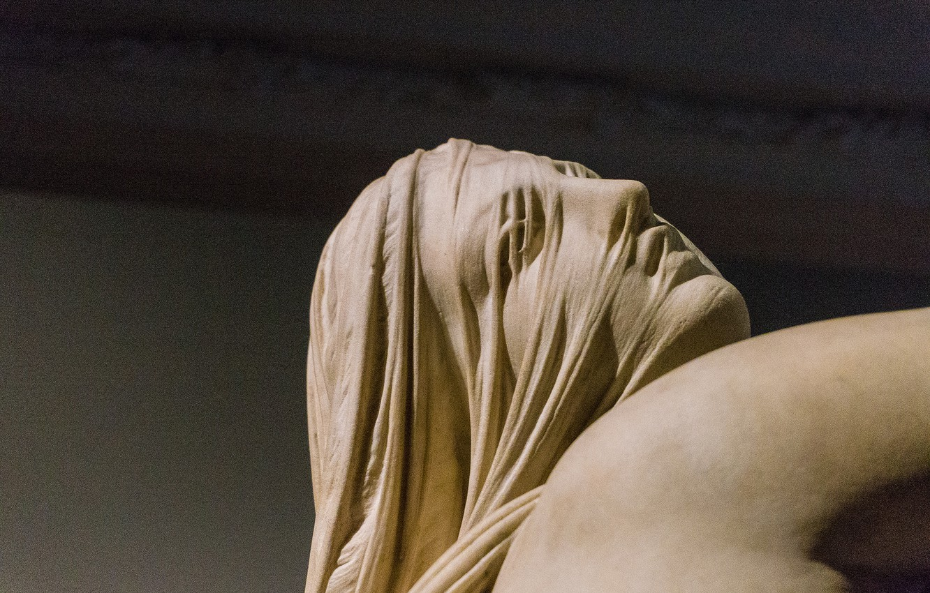 Photo wallpaper woman, sculpture, Museum, Italy, Raphael Monti, the sleep of sorrow and dream of joy