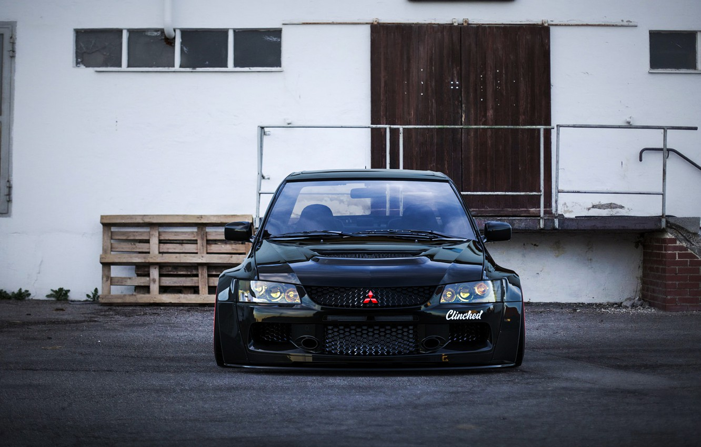 Wallpaper Auto Black Machine Mitsubishi Evo Rendering