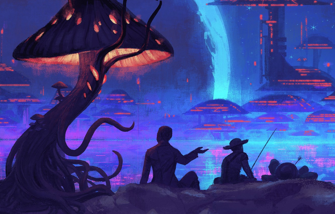 Photo wallpaper Music, Infected Mushroom, Cover, Monstercat, Head of NASA and the 2 Amish Boys