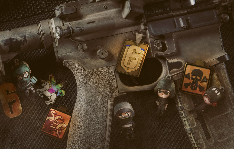 Photo wallpaper close-up, Tom Clancy's Rainbow Six Siege, Rainbow Six Siege, ammunition, the camouflage equipment, carbine M4, …