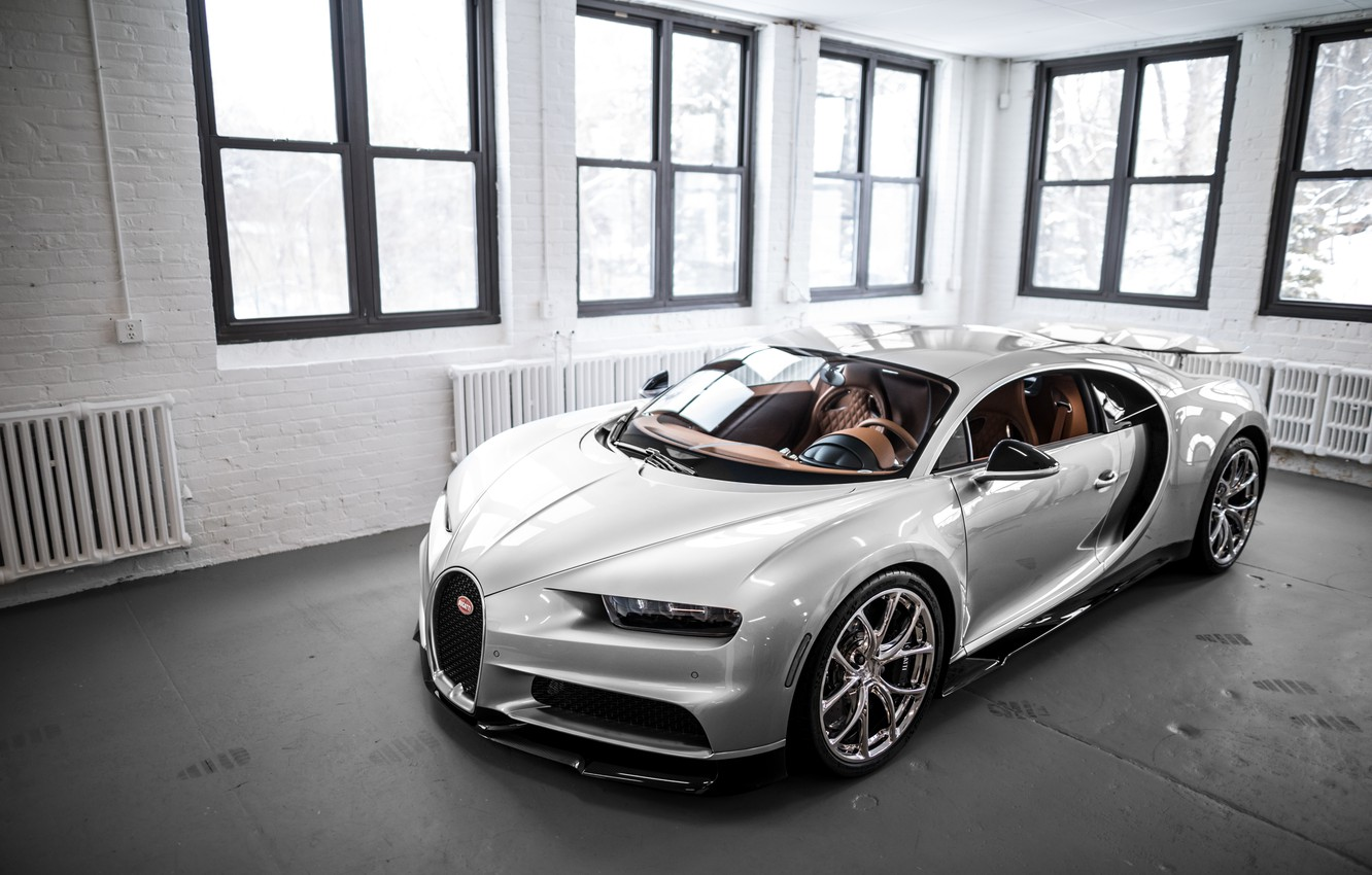 Photo wallpaper Bugatti, Windows, Silver, VAG, Sight, Chiron, 16/4