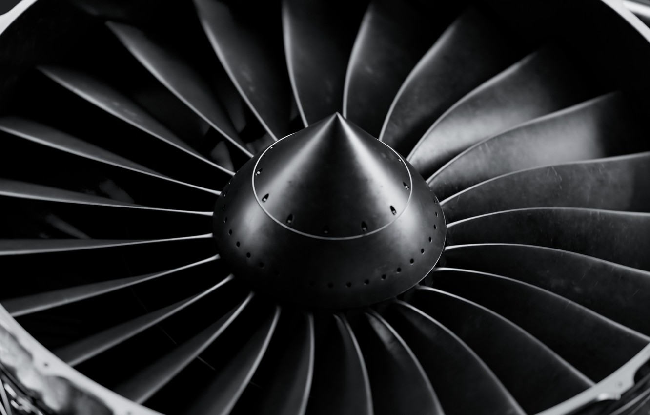 Wallpaper the plane engine aviation turbine aircraft blades by mentat3d mentat3d - Jet engine wallpaper ...