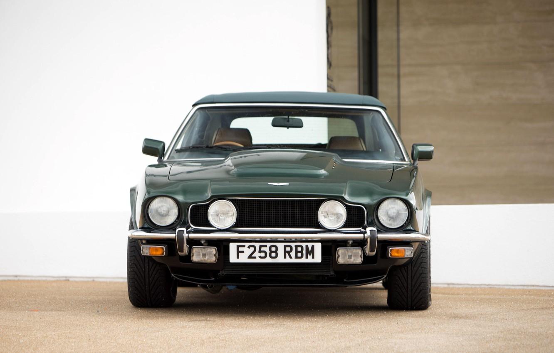 Photo wallpaper car, green, view sperti, Aston Martin V8 Vantage Volante