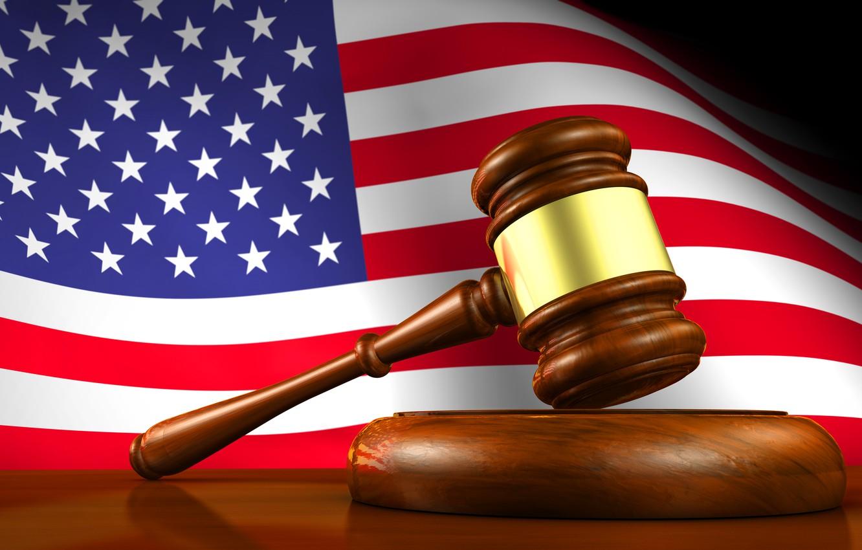 Photo wallpaper flag, hammer, America, america, usa, fon, flag, the court, court