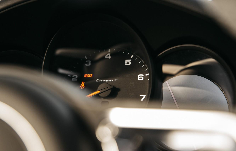 Photo wallpaper Porsche 911, Tachometer, Carrera T