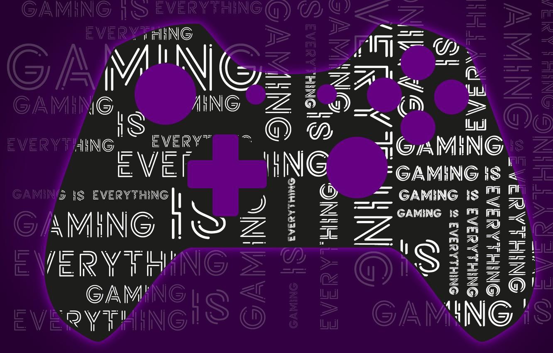 Photo wallpaper Purple, Gaming, Controller, XBOX