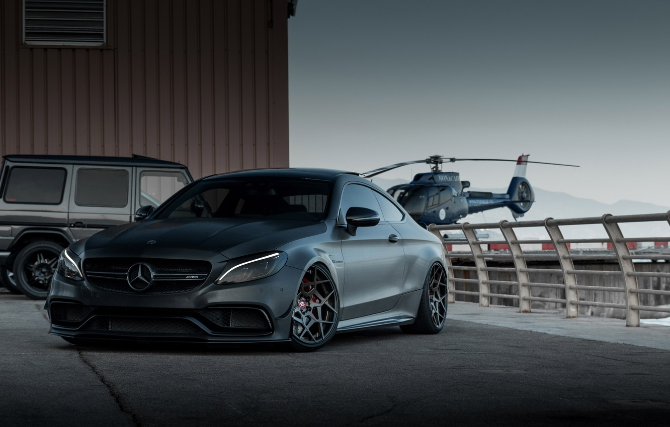 Photo wallpaper AMG, COUPE, Mercedes - Benz, C205, C63 S