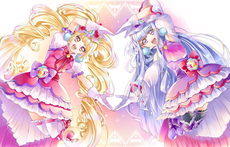 Photo wallpaper Anime, Girls, Dresses, Precure