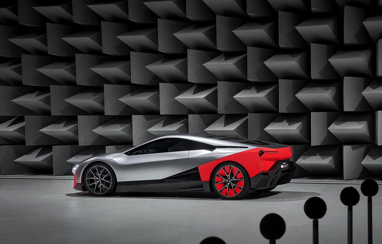Photo wallpaper wall, coupe, BMW, side view, 2019, Vision M NEXT Concept